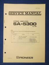 Pioneer SA-5300 Integrated Amp Service Manual Factory Original The Real Thing