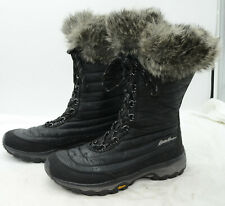 Eddie Bauer Thermafill 200g Insulation Sz 9.5 Eskimo Faux Fur Winter Snow Boots