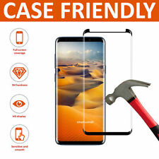 Glass Screen Protector For Samsung Galaxy S8 - 100% Genuine Tempered Black