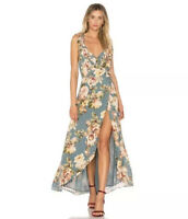 PRIVACY PLEASE Fillmore Floral Maxi Wrap Dress SMALL NWOT $218