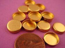 Brass Round Bezel Cups 10mm High Wall - 24 pieces