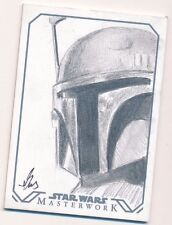 2016 Star Wars Masterwork Sketch Card Gus Mauk Free Ship