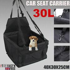 Large Car Seat Carrier Cat Dog Pet Puppy Travel Cage Booster Belt Bag Black 30L