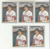 GUILLERMO HERNANDEZ 1989 Fleer #135 Error Variation Oddball 5 Different RARE