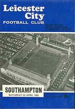 Football Programme - Leicester City v Southampton - First Division - 1968