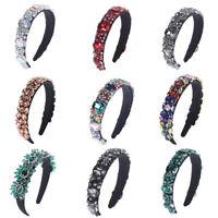 Elegant Ladies Baroque Crystal Headband Tiaras Hairband Wedding Hair Accessories
