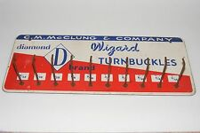 Vintage CM McClung Company Knoxville Tennessee Wizard Turnbuckles Sign Display