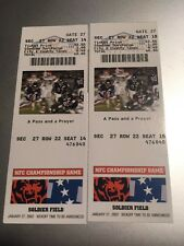 Jan 2002 CHICAGO BEARS NFC Championship Tickets Pair Pass And A Prayer
