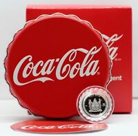 Coca-Cola Bottle Cap Coin 2018 Silver 6g Fiji 999 $1 Coke - OGP Box & COA