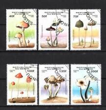 Champignons Bénin (29) série complète de 6 timbres oblitérés