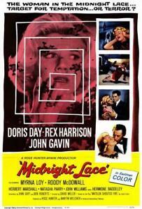 Midnight Lace Movie POSTER 27 x 40 Doris Day, Rex Harrison, John Gavin, A