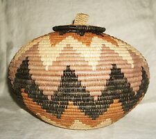 African Zulu Ukhamba Basket new Fair Trade Africa beer lid bazu127