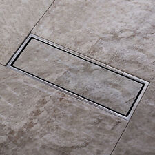Tile Insert Stainless Steel Invisible Linear Shower Floor Drain Wetroom Grate