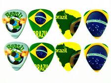 10pcs 1.0mm Flag of Brazil Guitar Picks Plectrums Printed Both Sides