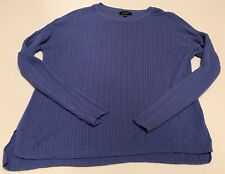 Lord & Taylor Purple Cable knit Crew Neck Sweater Size Small