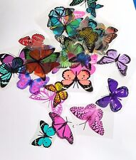 Mixed Colours - Uncut 15 Butterfly Mix - for Scrapbooking,Toppers, Craft, Cards