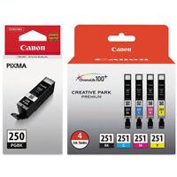 5 pack GENUINE Canon PGI-250 CLI-251 Ink Cartridges For PIXMA MX722 MX922