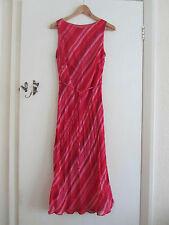 Long / Full Length Pink Diagonal Stripe Debenhams Dress in Size 12