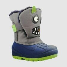 Toddler Boys' Huxley Monster Winter Boots - Cat & Jack Gray Size 6