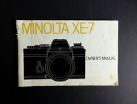 Minolta XE-7 Camera Instruction Manual 1975 English