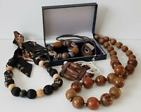 Costume Jewellery Bundle x 5 Pieces Wooden Items  Mixed Lots Resell Re-Wear