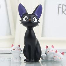 Lovely Ghibli Kiki's Delivery Service Jiji Black Cat Kitten Resin Figure Doll