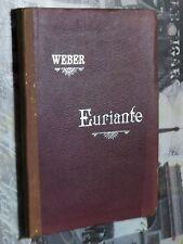 Partition Chant acc. piano Euriante C. M. WEBER DURDILLY