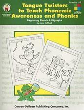 Tongue Twisters to Teach Phonemic Awareness and Phonics, Grades 1 - 3: Beginning