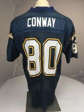 Vtg Adidas NFL San Diego Chargers Curtis Conway #80 navy blue football jersey XL