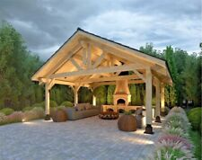 474 Sqft 20x22 Premium Timber Carport For 2 Vehicles Cars Wood Canopy Prefab