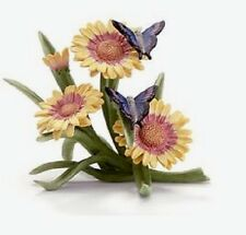 Lenox Flight of Fancy Blue Butterfly on Gerber Daisy Flower Figurine NEW IN BOX