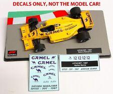 DECALS Senna / Nakajima LOTUS 99T 1987 CAMEL 1:43 Formula 1 Car Collections
