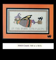 IF THE BROOM FITS  -  CROSS STITCH PATTERN ONLY HM - EYYP
