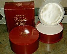 Vintage Prince Matchabelli AVIANCE NIGHT MUSK Perfumed Dusting Powder 4 oz Boxed