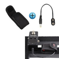 9V Battery Bag &Battery Clip Snap Connector for Guitar Effect Pedal Power Supply
