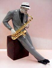 Jazz Saxophonist Male Musician Sax Figurine 2018 By Lladro Porcelain #9330