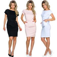 Unifarbene Größe 36 Damenkleider für Business-Anlässe