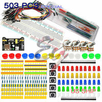 MB102 Breadboard Kit Jumper U Cable Wires Power Supply For Arduino Raspberry Pi