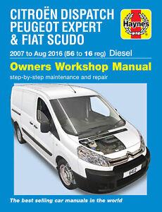Citroen Dispatch, Peugeot Expert & Fiat Scudo Diesel 56 to 16 (07 - Aug 16) Hayn