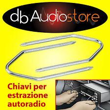 Chiavi chiavette estrazione autoradio Peugeot 307 CC 2001> auto stereo car KEYS