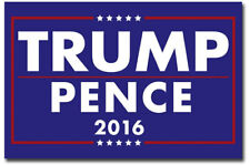 """Donald Trump & Mike Pence President 2016 Campaign Fridge Magnets 2.5"""" x 3.7"""""""