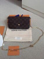 Louis Vuitton Felicie Pochette Monogram Canvas Fuchsia GENUINE BRAND NEW