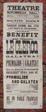 *W S GILBERT RARE LARGE 25 BY 9 INCH 1873 PYGMALION & GALATEA BROADSIDE*