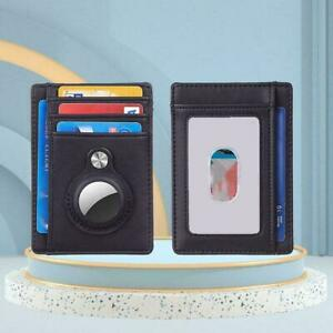 Airtag Wallet Genuine Leather Credit Card Money Holder Air Cover Case Tag S9I0