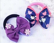 NEW Mini Jojo Style Bows Set of 2,💕BellaBow💘 Hair Ties Elastics, MIX