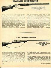 """1972 Print Ad of Marlin LC Smith Deluxe Grade & 3"""" Magnum Goose Gun Shotgun"""