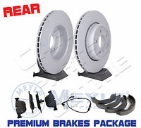 FOR BMW E60 E61 535 535D M SPORT 2 REAR VENTED BRAKE DISCS PADS SET WIRE SHOES