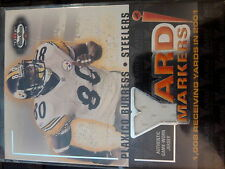 2002 Fleer Box Score Plaxico Burress Yard Markers Game-Used Jersey Card MINT