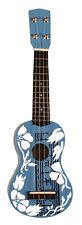 Ukulele MSA Musikinstrumente UK 34 blau weiß