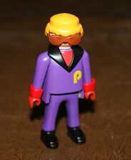 Playmobil vie quotidienne skieur en combinaison violette lunettes 3684